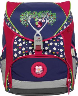Ранец с наполнением DERDIEDAS ErgoFlex XL Цветущая яблоня 25.5 л синий красный рисунок