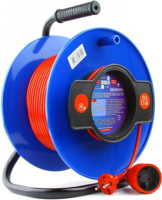 Удлинитель Power Cube PC-B1-K-30 синий 1 розетка 30 м мастер кит power cube fb0025 розетка с usb white