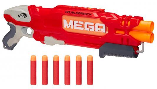 """Бластер Hasbro Nerf Мега """"Даблбрич"""" красный игрушечное оружие nerf hasbro мега бластер даблбрич"""