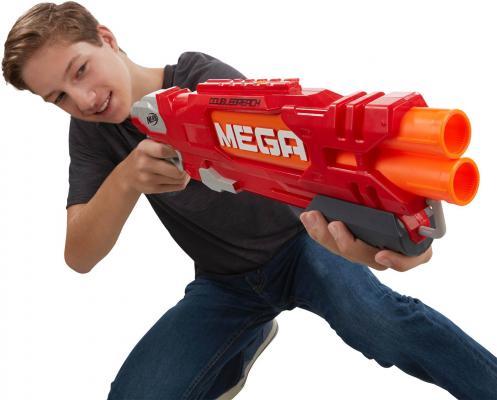 """Фото Бластер Hasbro Nerf Мега """"Даблбрич"""" красный. Купить в РФ"""