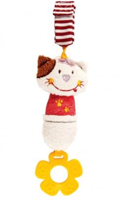 Развивающая игрушка Жирафики Подвеска с колокольчиком и прорезывателем Кошечка Мими 939348 игрушка подвеска акробат хрюнтик с колокольчиком