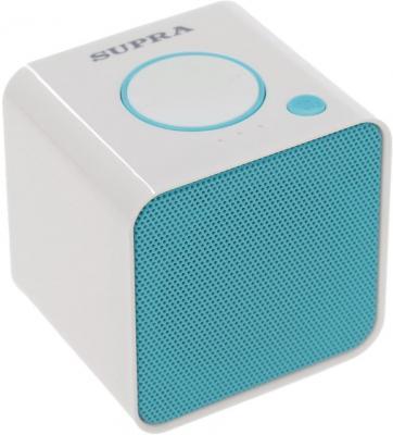 Фото Портативная акустикаSupra BTS-628 бело-голубой. Купить в РФ