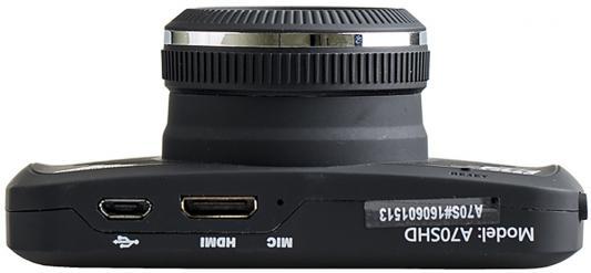 """Фото Видеорегистратор Silverstone F1 A-70SHD 2.7"""" 2304x1296 5Mp 170° microSD microSDHC датчик движения USB HDMI черный. Купить в РФ"""