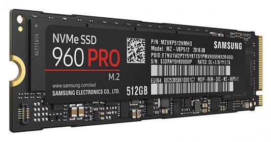 Фото Твердотельный накопитель SSD M.2 512Gb Samsung 960 PRO Read 3200Mb/s Write 2100Mb/s PCI-E MZ-V6P512BW. Купить в РФ