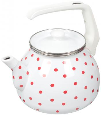 Чайник INTEROS Горошек белый 3 л металл 6009 чаша горошек 2 л бел син 1150426