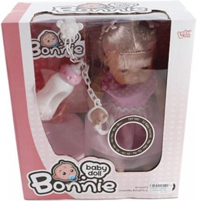 Фото Кукла Shantou Gepai Bonnie в розовом платье со звуком  LD9908G. Купить в РФ