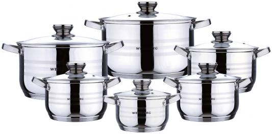 Набор посуды Wellberg WB-02118 12 предметов