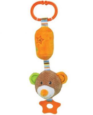 Развивающая игрушка Жирафики Подвеска с колокольчиком и прорезывателем Мишка Вилли 939328 игрушка подвеска акробат хрюнтик с колокольчиком
