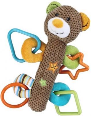 Погремушка-пищалка Жирафики Мишка Вилли 93679 развивающая игрушка жирафики подвеска с погремушкой зеркальцем и мягкой игрушкой мишка вилли