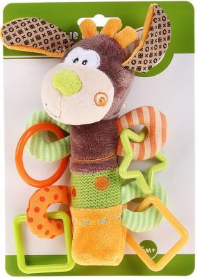 Погремушка-пищалка Жирафики Пёсик Том  93558 погремушка пёсик