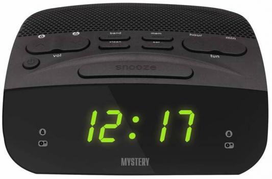 Часы с радиоприёмником MYSTERY MCR-23 чёрный зеленая подсветка
