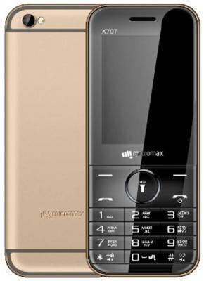 Мобильный телефон Micromax X707 шампань 2.4 32 Мб мобильный телефон micromax x707 grey