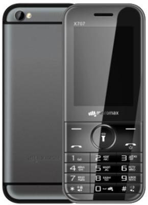 Мобильный телефон Micromax X707 серый 2.4 32 Мб мобильный телефон micromax bolt q379 черный