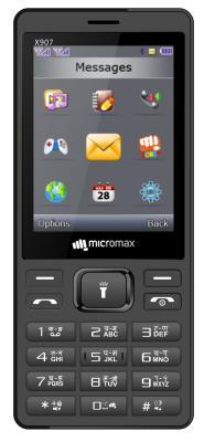 Мобильный телефон Micromax X907 серый 2.8 мобильный телефон micromax bolt q379 черный