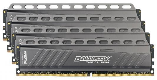 Оперативная память 16Gb (4x4Gb) PC4-21300 2666MHz DDR4 DIMM Crucial BLT4C4G4D26AFTA оперативная память 16gb pc4 21300 2666mhz ddr4 dimm corsair cmk16gx4m1a2666c16