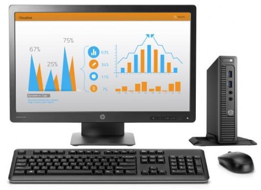 "Компьютер 23"" HP 260 G2 DM 1920 x 1080 Intel Core i3-6100U 4Gb SSD 256 Intel HD Graphics 520 Windows 10 Professional черный 1QM08ES"