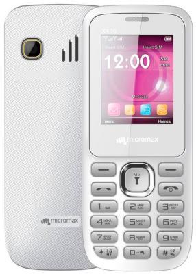 Мобильный телефон Micromax X406 белый 1.8 32 Мб смартфон micromax bolt q379 yellow