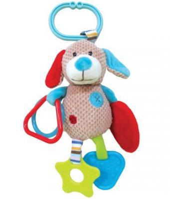Развивающая игрушка Жирафики Подвеска с зеркальцем прорезывателями и погремушками Собачка Билли 939332 жирафики развивающая игрушка мишка с погремушками