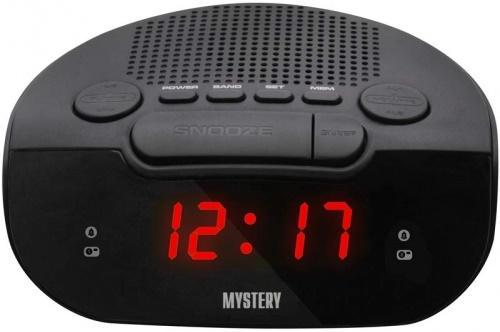 Радиобудильник MYSTERY MCR-21 чёрный красная подсветка