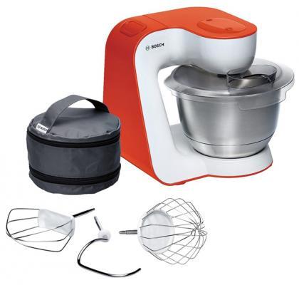 Кухонный комбайн Bosch MUM54I00 бело-красный цена и фото