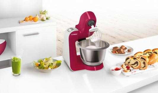 Фото Кухонный комбайн Bosch MUM58420 серебристо-розовый. Купить в РФ