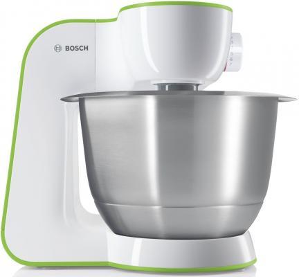 Кухонный комбайн Bosch MUM54G00 бело-зеленый цена 2017