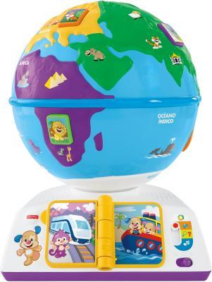 """Интерактивная игрушка Fisher Price """"Смейся и учись"""" Обучающий Глобус DRJ90 от 18 месяцев разноцветный"""
