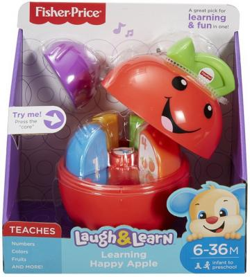 """Интерактивная игрушка Fisher Price """"Смейся и учись"""" Обучающая игрушка """"Яблочко"""" от 1 года разноцветный"""