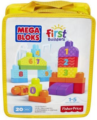 """Фото Конструктор MEGA BLOKS First Builders """"Учимся считать"""" 20 элементов. Купить в РФ"""