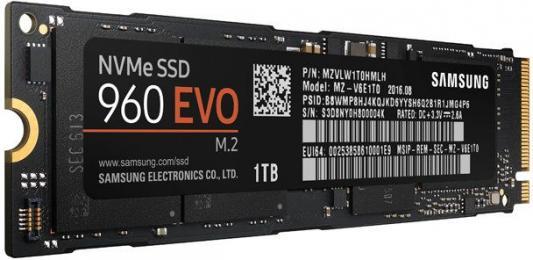 Фото Твердотельный накопитель SSD M.2 1Tb Samsung 960 EVO Read 3200Mb/s Write 1900Mb/s PCI-E MZ-V6E1T0BW. Купить в РФ