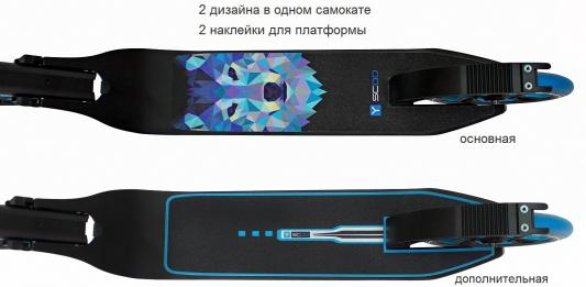 Фото Самокат Y-SCOO RT 215 ONE&ONE 8.5'' синий (2 дизайна в 1 самокате). Купить в РФ