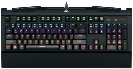 Клавиатура проводная GAMDIAS HERMES 7 Color USB черный GM-GKB3000