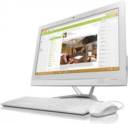 """Фото Моноблок 23"""" Lenovo IdeaCentre 300-23ISU 1920 x 1080 Intel Pentium-4405U 4Gb 1Tb Intel HD Graphics 510 Windows 10 Professional белый F0BY00GNRK. Купить в РФ"""