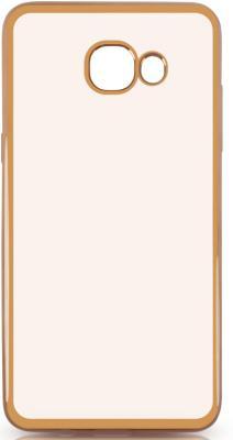 Чехол силиконовый DF sCase-37 для Samsung Galaxy J5 Prime/ On5 2016 с рамкой золотистый