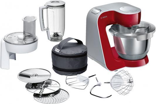 Кухонный комбайн Bosch MUM58720 серебристо-красный кухонный комбайн bosch mcm3110w mcm3110w