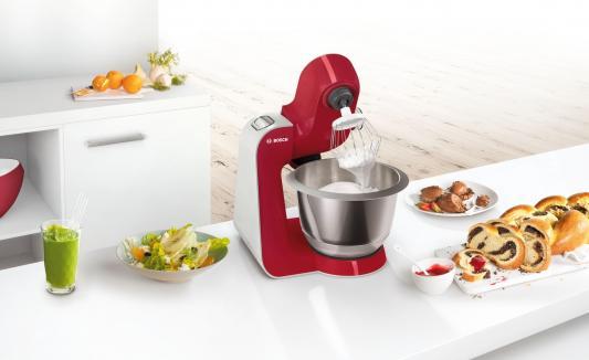 Фото Кухонный комбайн Bosch MUM58720 серебристо-красный. Купить в РФ