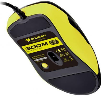 Фото Мышь проводная COUGAR 300M чёрный жёлтый USB. Купить в РФ