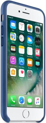 Фото Чехол (клип-кейс) Apple Leather Case для iPhone 7 синий MPT92ZM/A. Купить в РФ