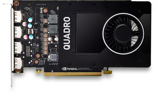 Видеокарта 5120Mb PNY Quadro P2000 PCI-E 160bit GDDR5 4xDP VCQP2000-PB Retail