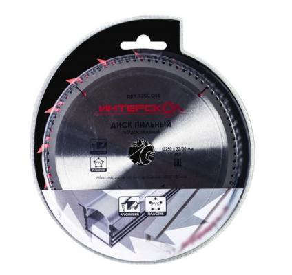 Пильный диск Интерскол 250x32/30мм-100T по алюминию 1200 003