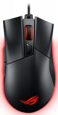 Фото Мышь проводная ASUS ROG Gladius II чёрный USB. Купить в РФ