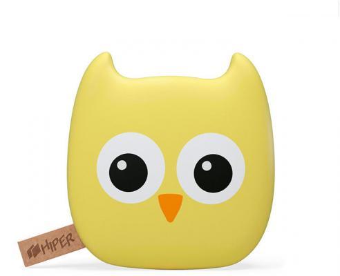 Портативное зарядное устройство Hiper Zoo Owl 7500mAh 2.1A+1A рисунок 2xUSB
