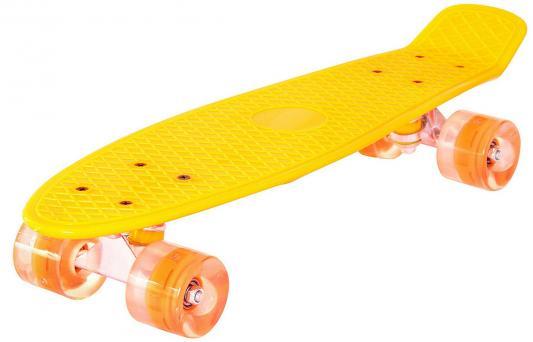 "Фото Скейтборд RT Classic 22"" 56x15 YQHJ-11 пластик со светящимися колесами цвет оранжевый 171203. Купить в РФ"