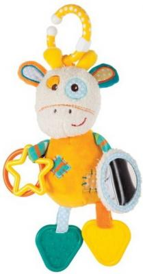 Развивающая игрушка Жирафики Подвеска с пищалкой, зеркальцем, прорезывателями Жирафик Дэнни 939362 жирафики развивающая игрушка звездочка