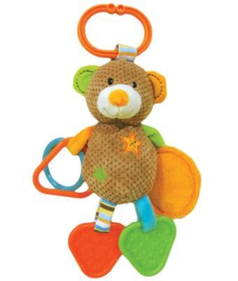 Развивающая игрушка Жирафики Подвеска с зеркальцем прорезывателями и погремушками Мишка Вилли 939331 развивающая игрушка жирафики подвеска с колокольчиком и прорезывателем собачка билли 939329