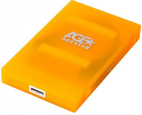 Внешний контейнер для HDD 2.5 SATA AgeStar 3UBCP1-6G USB3.0 пластик оранжевый внешний контейнер для hdd 2 5 sata agestar 3ub2a14 usb3 0 красный