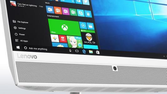 Фото моноблок Lenovo IdeaCentre AIO510-22ISH  21.5'' FHD(1920x1080)/Intel Core i5-6400T 2.20GHz Quad/6GB/1TB/RD R5-M435 2GB/DVD-RW/WiFi/BT4.0/CR/KB+MOUSE(USB)/W10H/1Y/WHITE. Купить в РФ