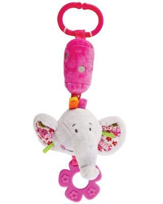 Развивающая игрушка Жирафики Подвеска с колокольчиком и прорезывателем Слонёнок Тим 939326 игрушка подвеска акробат хрюнтик с колокольчиком