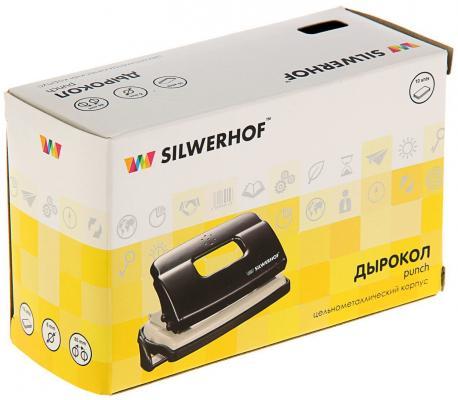 Фото Дырокол Silwerhof Debut 10 листов черный 392029-01. Купить в РФ