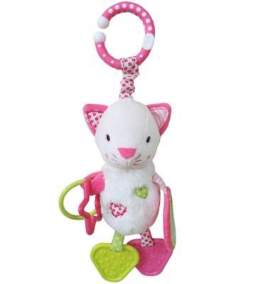 Развивающая игрушка Жирафики Подвеска с зеркальцем и прорезывателями Кошечка Кити 939458 жирафики развивающая игрушка подвеска крабик звук буль буль